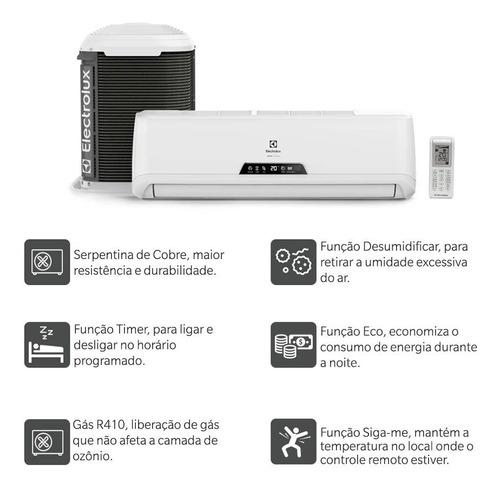 ar condicionado split hi wall 9000 btus frio 220v electrolux