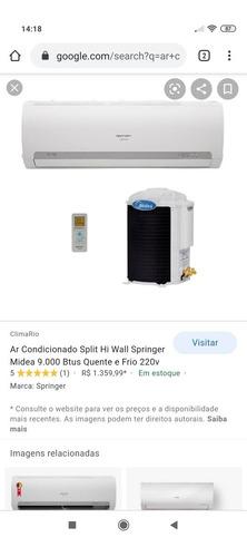 ar condicionado springer midea inverter 24000btu branco 220v