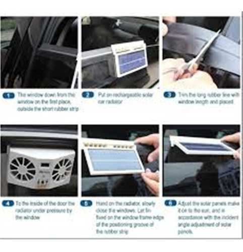 ar condicionado ventilador carro solar circulador exaustor