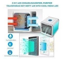 ar ventilador 350w bivolt ar condicionador portatil compacto
