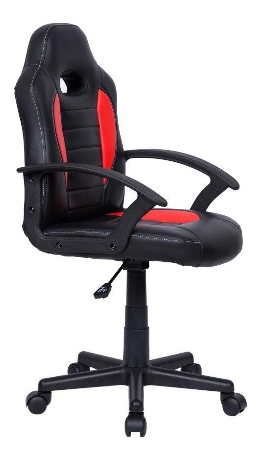 Cadeira Gamer Infantil Em Couro Pu Preta Com Azul Oferta - R$ 299 ...