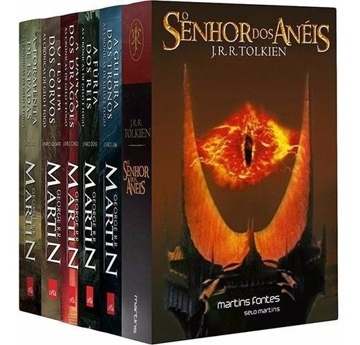 Kit Coleção Game Of Thrones + Senhor Dos Anéis (6 Livros) - R$ 299 ...