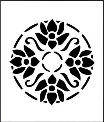 Arabesco Mandala Damask Kit Stencil Molde Vazado A4 R 2990 Em