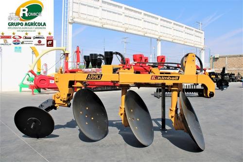 arado agricola 3 discos hidraulico marca kimball p tractor
