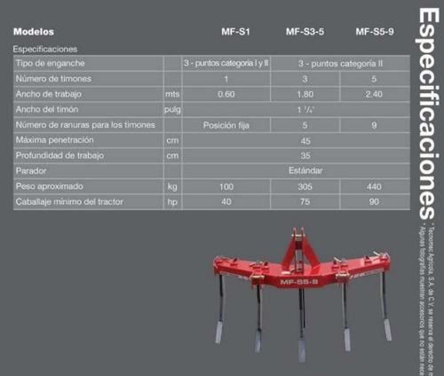 arado subsuelo mf de 3 timones 2020 promo marzo!