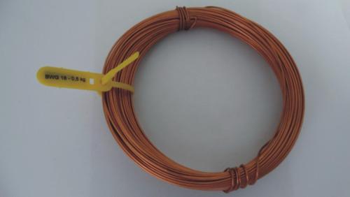 arame de cobre (fio nú) diâmetro 1,25mm (20metros)