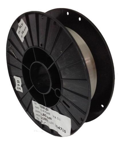arame mig inox 308 l - 0,80mm ( bobina com 5kg)