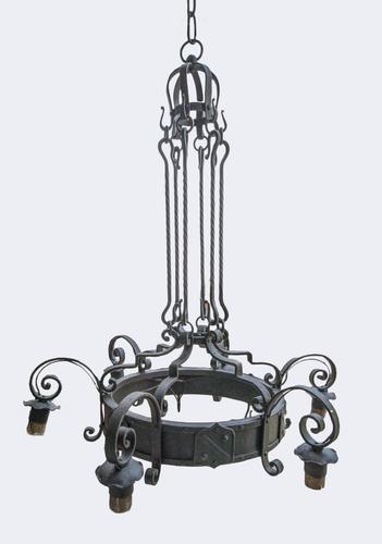 araña antigua - 6 luces