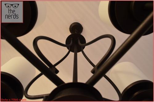araña colgante estilo campo  5 luces