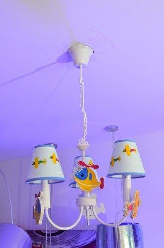 araña colgante infantil 3 luces niños niñas