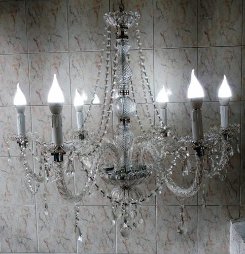 araña colgante vidrio 6 luces modelo extra grande!!
