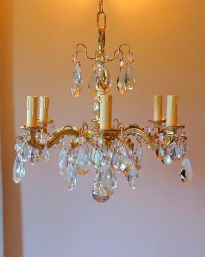 araña de bronce france c/ caireles. 6 luces. el restaurador