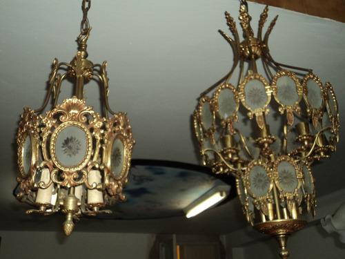 araña de bronce grande