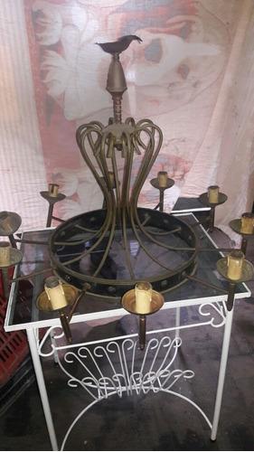 araña de bronce restaurada