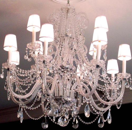 araña de cristal de 16 luces sin pantallitas