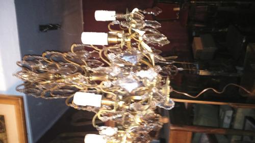 araña estilo versalles cristal y bronce recién restaurada