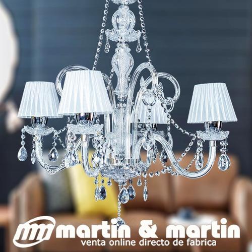 araña martin y martin cristal verdadero x4 pantalla y piezas en cromo