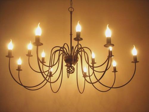 arañas- led-colgantes de hierro. estudio-light