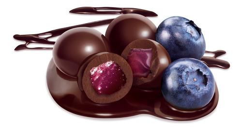 arándanos cubierto c/chocolate semiamargo chocolart x 500 gm