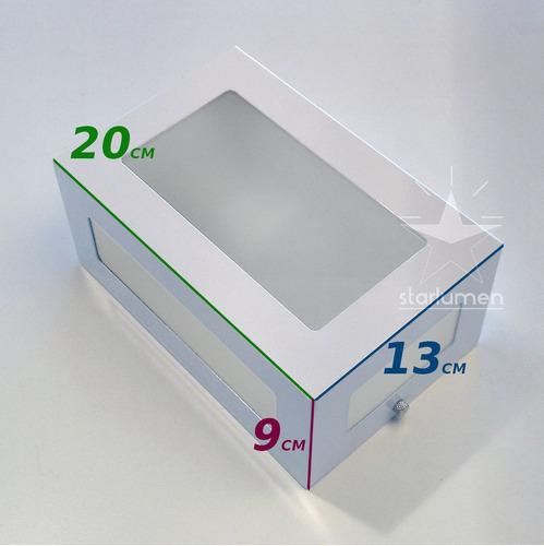 arandela 5 vidros + lâmpada led 12w externa alumínio st569