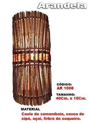 arandela artesanal rustica - 1008
