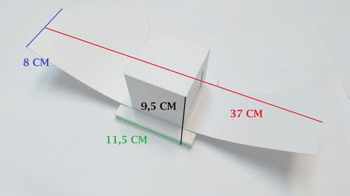 arandela box com aba 2 focos uso interno e externa g9