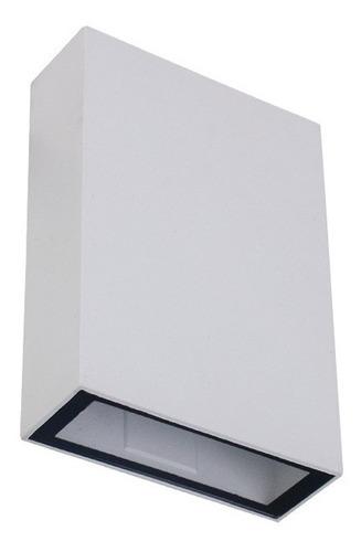arandela box slim mini externa led 4w 2 focos 12x8cm i9led