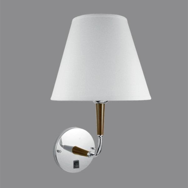 Arandela Cúpula Em Tecido Branco  Luminária Quarto  Parede  R$ 296,06 em M