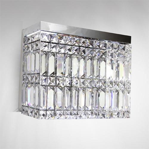 arandela luminária balizador cristal 30x10 moderna p922 gda