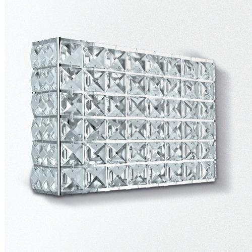 arandela luminária cristal retangular 15x20x9 pc002 gda
