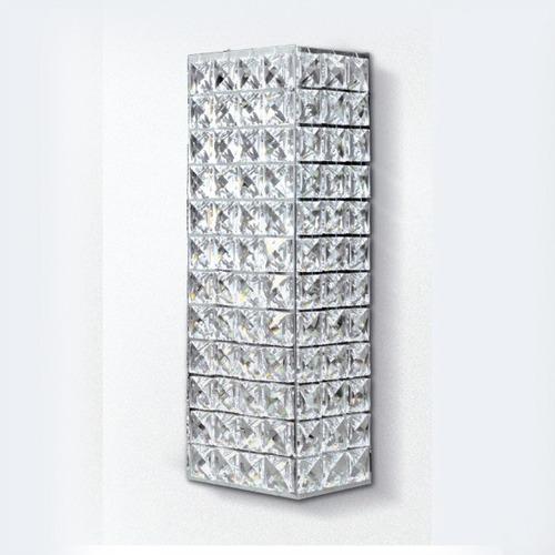 arandela luminária cristal retangular 29x10x9 pc005 gda
