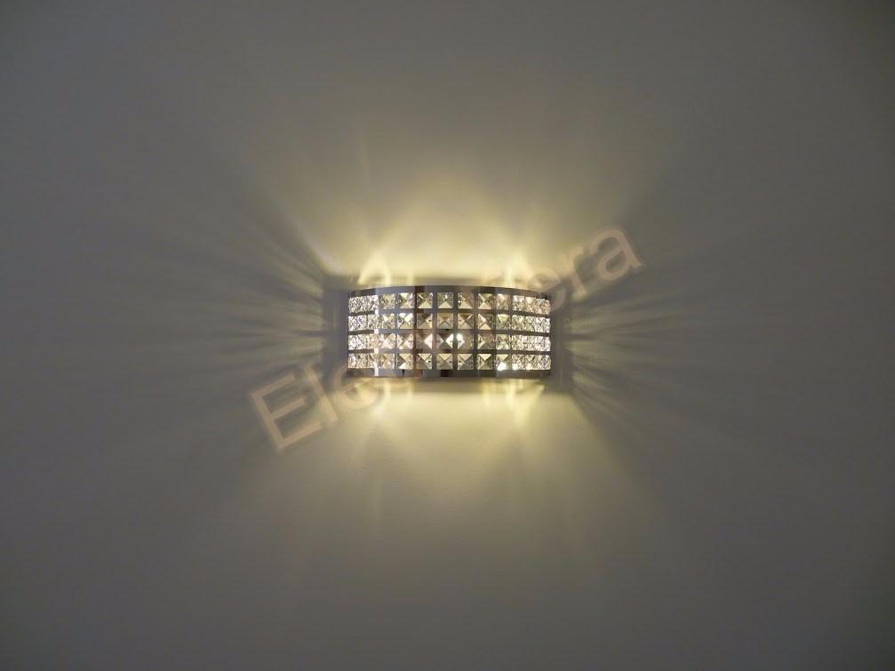 Arandela Luminária De Parede Para Quadros E Espelhos Cristal R$ 218,00 em Mercado Livre