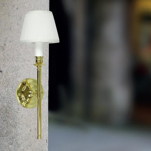 arandela luminária dourada seda clássica parede p950 gda