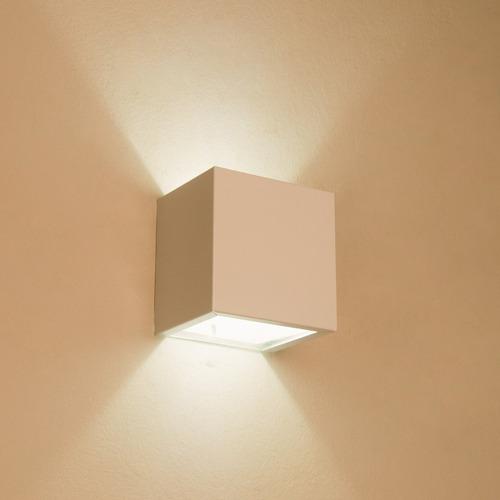 arandela luminária frisada efeito parede dois fachos box 3un