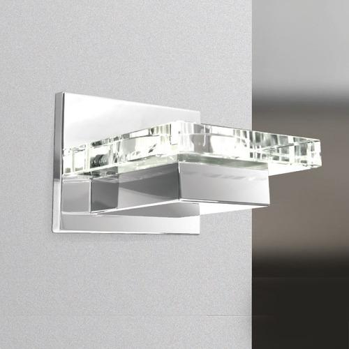 arandela luminária vidro cristal quadrada moderna p913 gda