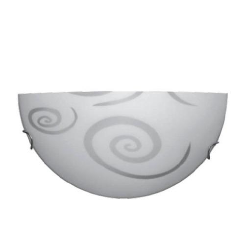 arandela meia lua modelo círculos garras metal cromado