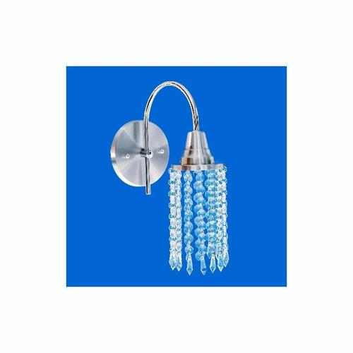 arandela rendonda aluminio cristal, lustre liquidatudo!!!