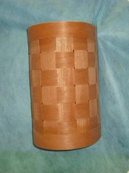 arandela rústica artesanal em madeira 20x30cm