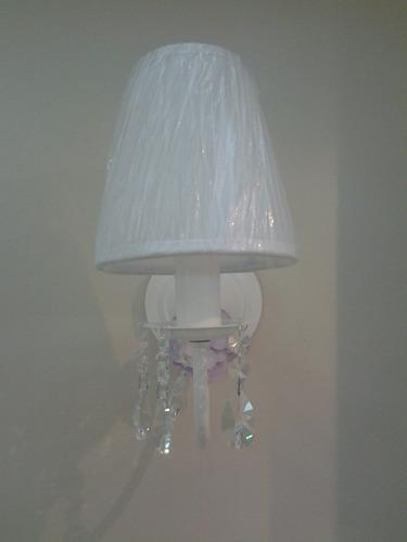arandelas de parede com cristal