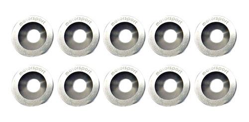 arandelas planas m8 competición x10 gris vroom