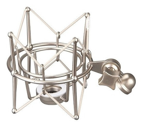 aranha shock mount prata grande condensador
