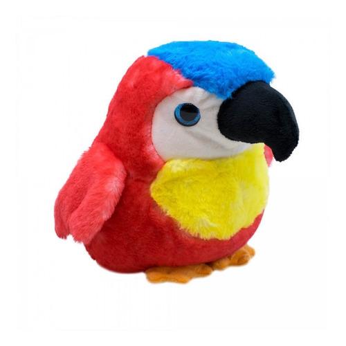arara vermelha 22cm original fofy toys