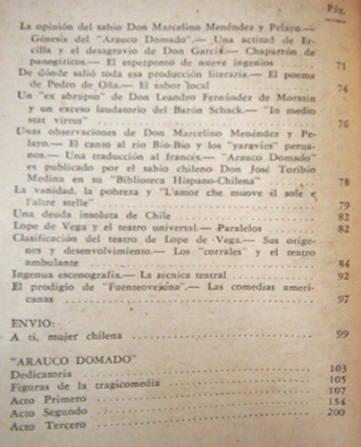 arauco domado lope de vega libro editorial zig-zag