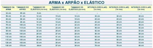 arbalete arpão divecom elite argos 20 mm 100 cm + brindes
