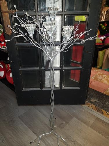 arbol candelabro portavelas de metal (envio gratis)