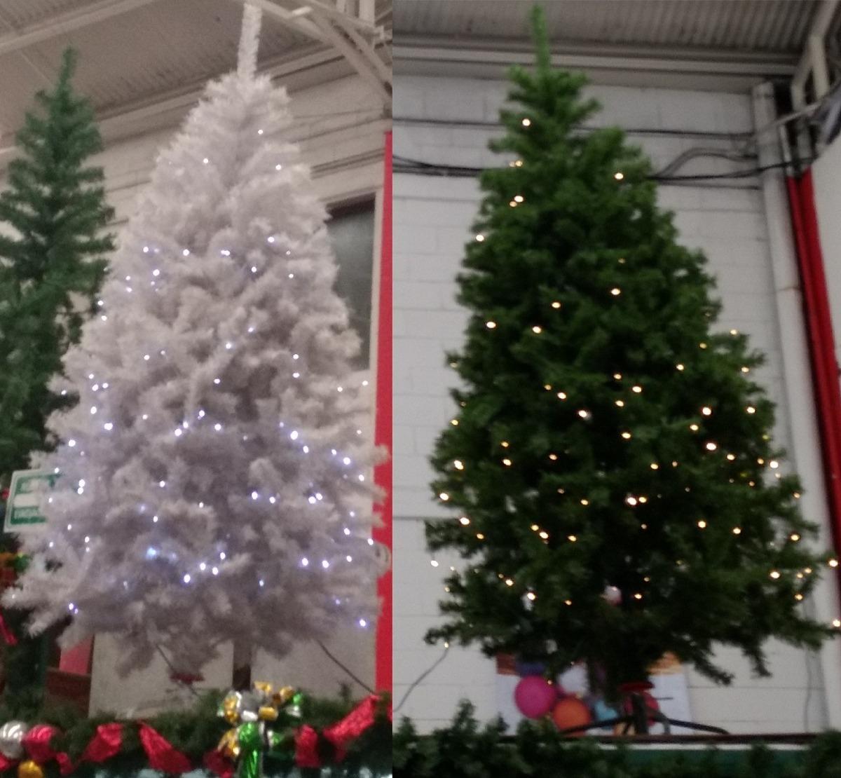 Arbol d navidad artificial vermont 260 luces led mts - Arbol navidad led ...