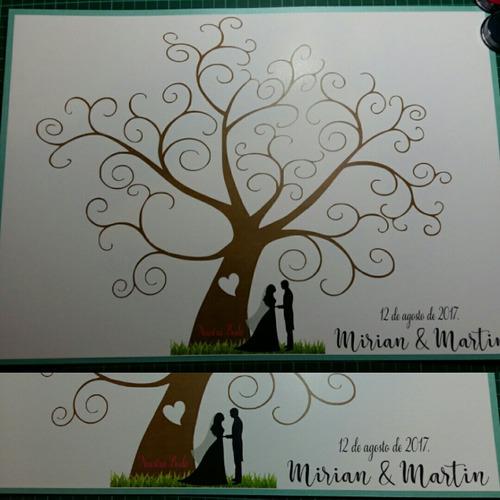 árbol de firmas/ árbol de huellas/ casamiento/ 15/ bautismo!