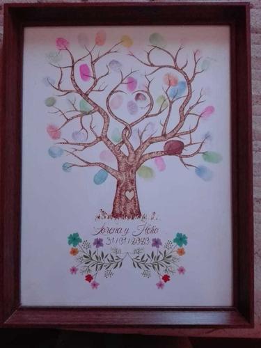 arbol de huellas para matrimonios,  baby shower, bautizos