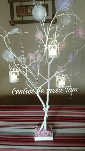arbol de la vida, centros de mesa 15 años y bodas