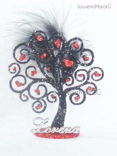 árbol de la vida con estrellas y corazones souvenir de 20 cm